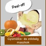 Peel-off Gyümölcs és zöldség maszkok